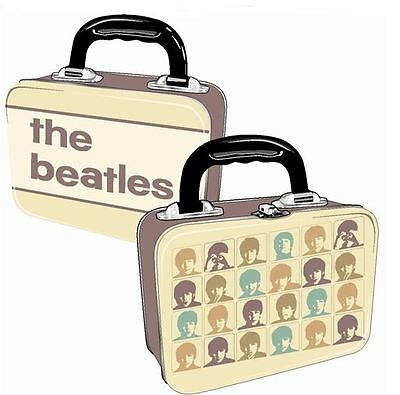 THE BEATLES HARD DAYS NIGHT VINTAGE STYLE METAL LUNCH BOX TOTE TIN...