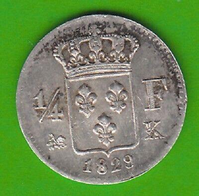 Frankreich 1/4 Franc 1829 K sehr hübsch selten nswleipzig
