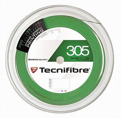 TECNIFIBRE 305 SQUASH STRING - 1.20MM - 200M REEL - GREEN - RRP £180