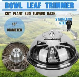 "Twisted Trimmers 16"" Hydroponics Stainless Bowl Leaf Plant Bud Spin Trimmer -BIG  MODEL   FREE SHIPPING"