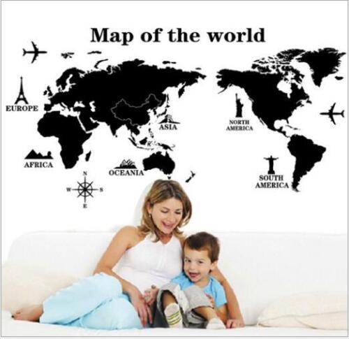 Home Decoration - Wall Art Decal Vinyl Sticker Removable Home Decor Map of the World PVC DIY Gift