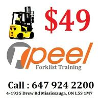 Forklift Training & Lincense from $49 onlyCall  647 924 2200