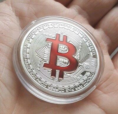 BITCOIN 1oz Silver Physical Bitcoin Proof Coin - FAST SHIPPING!! - USA Seller!