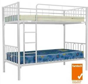 new bunk beds white colour strong cheap bunks  only $199 Old Guildford Fairfield Area Preview