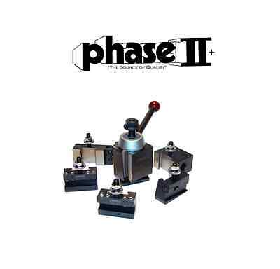 Phase Ii Tool Post Set 5 Holders Wedge Bxa 10 To 15 Lathe Swing