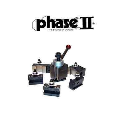 Phase Ii Tool Post Set 5 Holders Wedge Axa 9 To 12 Lathe Swing