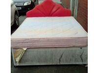 Double bed complete with mattress and Base and head board