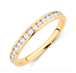 Gold Diamond Channel Set Wedding Eternity Band $920  (RRP: $1995) Scarborough Stirling Area Preview