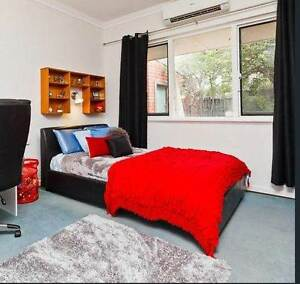 double bed - black leather look Mount Claremont Nedlands Area Preview