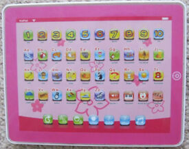 Chad Valley Junior Touch Tablet in pink.