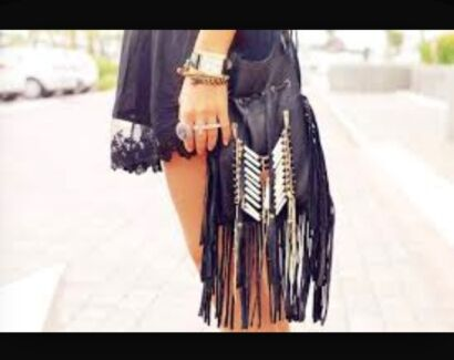 Leather Hip Bag Leather Tassle Bags