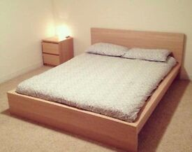 Double ikea bed with free mattress