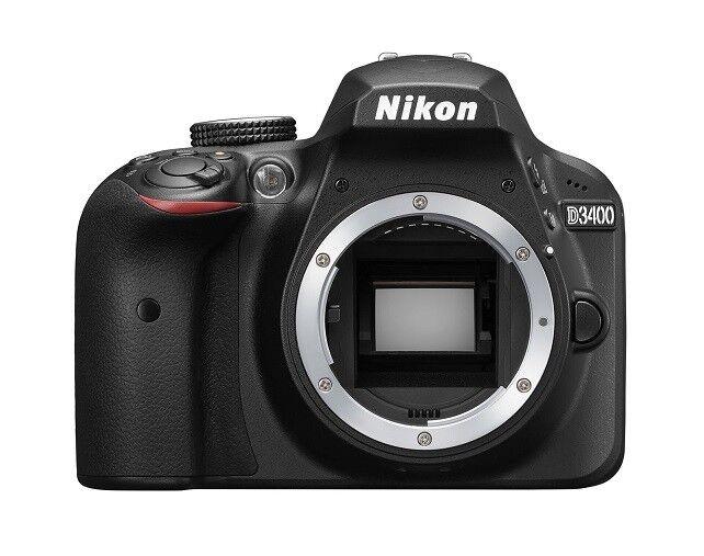 Spiegelreflexkamera Nikon D3400 (24,2 MP) DSLR GEHÄUSE (body)
