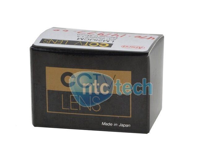 "Kowa LM25JCM CCTV Lens 2/3"" 25MM / F1.4 Manual C-Mount - New"