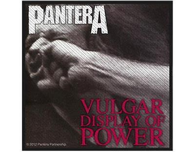 OFFICIAL LICENSED - PANTERA - VULGAR DISPLAY OF POWER SEW ON PATCH THRASH METAL