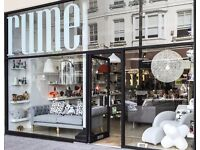 Saturday store/web assistant in beautiful Hove interiors showroom to cover maternity leave