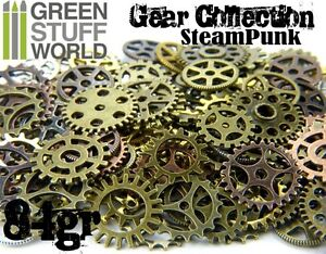 Steampunk-COGS-GEARS-Set-84-gr-Cogs-and-Gears-Variety-Mix-MEDIUM