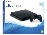 PS4 slim 500GB Console Black (new & unboxed)