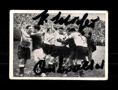 Hans Schäfer Ottmar Walter DFB Kiddy Sammelbild WM 1954 Original Sign+ A 150243