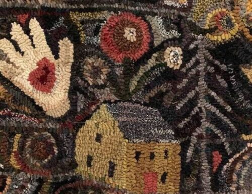MUSTARD HOUSE~ MY PRIMITIVE THINGS COLLECTION ~ LINEN RUG PATTERN