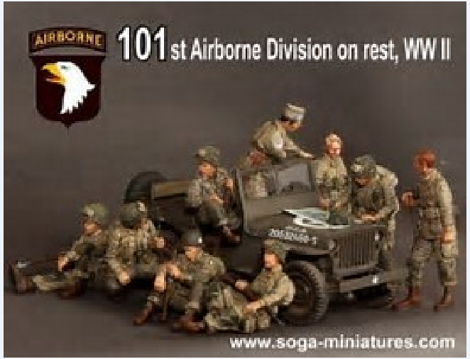 Master Box 3511 WWII US Paratroopers 101st Airborne 1944 3Fig plastic kit 1//35