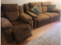 3+1 like new electric recliner fabric sofa can deliver