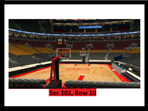 =TORONTO RAPTORS Tickets:Lower Bowl Great View:3 SEATS IN A ROW=