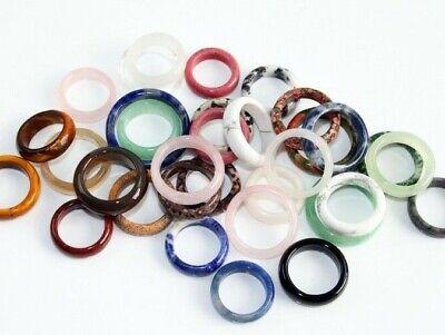 Edelsteinring Finger Ringe 6 mm echt Ring Größe 50-64 ganz aus Edelstein/ Stein  ()