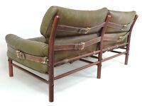 Arne Norell 1960s Kontiki sofa Vintage scandinavian settee retro chair