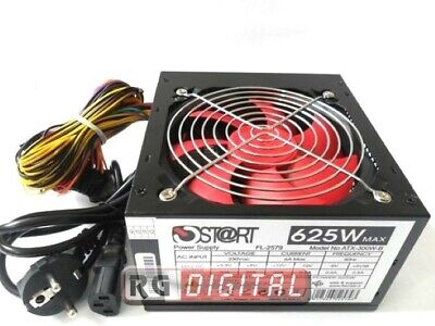 ALIMENTATORE PC START 625 WATT 20+4 Pin VENTOLA 12 CM 3 SATA 2 IDE ON OFF 625W