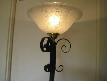 Tall black gold metal floor lamp free table lamp etc