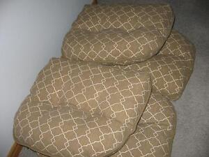 4 CHAIR CUSHIONS - INDOOR or OUTDOOR