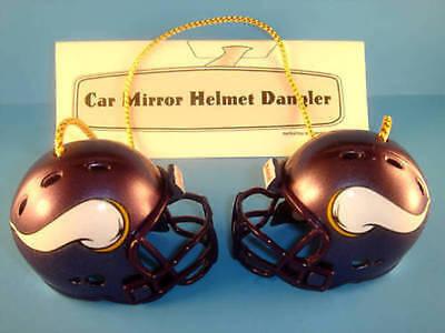 MINNESOTA VIKINGS CAR MIRROR NFL FOOTBALL HELMET DANGLER - HANG FROM ANYTHING!