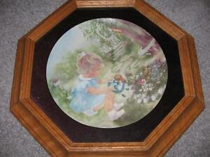 FRAMED COLLECTOR PLATES set of 4