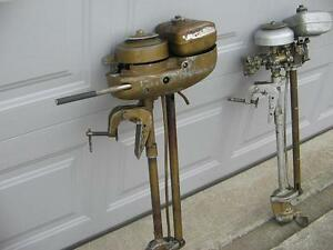 2 Muncie 1.7 Hp Outboard Motors