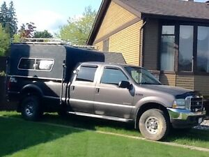 2004 F350 Crew Cab, diesel 4X4 long box with camper -$12,000