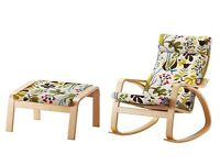 Ikea Rocking Chair and Footstool - Perfect for Nursing!