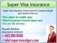 Super Visa Insurance - Lowest Rate 403.590.8595