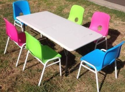 Kids Tables and Kids Chairs for Hire $3.50 chair $10 table