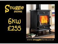 Stove. Multi fuel. Wood burning stove. Delivery £25.