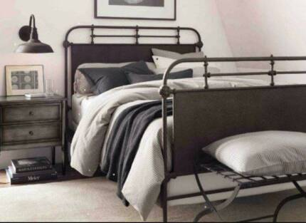 NEW STOCK Vintage Style Metal Bedframe FREE DELIVERY