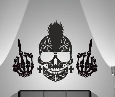 eber Aufkleber Wohnzimmer Mexican Sugar Skull Cool FUCK  126 (Sugar Skull Dekoration)