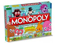 Used but complete Moshi monster monopoly board game