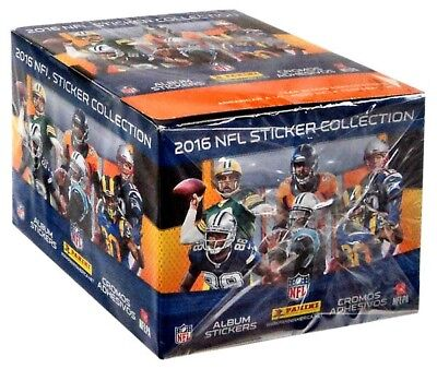 2016 NFL Sticker Collection NFL Sticker Collection 2016 Booster Box [50 Packs]