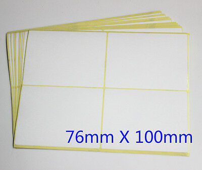 White Paper Sticker Stickers Label Labels Rectangle Blank Self Adhesive Address