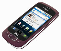 FOUND: LG Optimus T cell phone in burgundy
