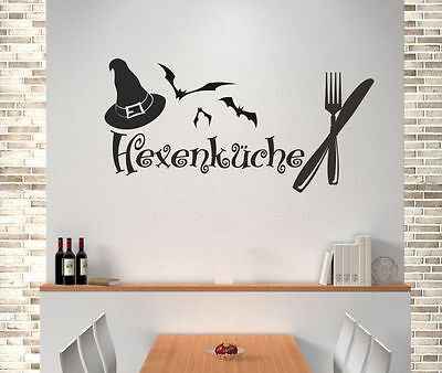 eber Aufkleber Küche Essen Koch Hexenküche Besteck Hut 63 (Hexe Hut Tattoo)