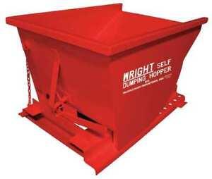 Self Dumping Hopper,4000 lb.,Red G0100226