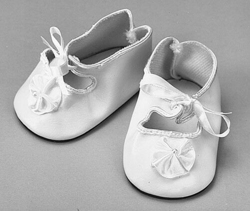 "White doll shoes 89mm or 3-1/2"" for 20 to 22 inch dolls Lot of 6 pair"