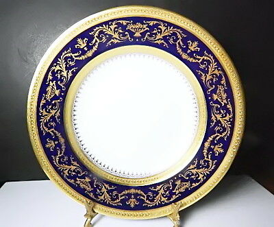 Cobalt Rimmed Soup Bowl - Faberge China VERNEUIL COBALT Rimmed Soup Bowl, MINT !